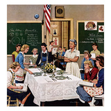 &quot;Setting the Table&quot;, February 16, 1957 Giclee Print by Stevan Dohanos