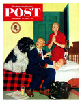 """Dr. and the Dog"" Saturday Evening Post Cover, November 21, 1953 Giclee Print by Richard Sargent"
