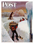 """""""Gathering Wood"""" Saturday Evening Post Cover, January 27, 1951 Giclee Print by John Clymer"""