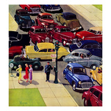 """Traffic Jam"", April 28, 1956 Giclee Print by Earl Mayan"