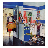 """Mother's Little Helpers"", April 18, 1953 Giclee Print by John Falter"