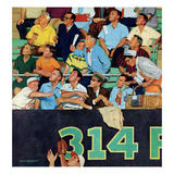 """No Time for a Hotdog"", April 11, 1959 Giclee Print by Richard Sargent"
