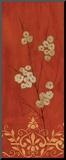 Sienna Flowers II Mounted Print by Fernando Leal