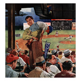 """Sleepy Inning"", April 23, 1955 Giclee Print by Earl Mayan"