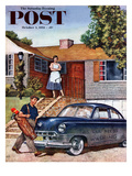 """This Car Needs Washing"" Saturday Evening Post Cover, October 3, 1953 Giclee Print by Amos Sewell"