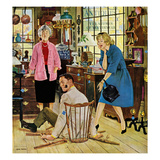 """Broken Antique Chair"", June 20, 1959 Giclee Print by John Falter"