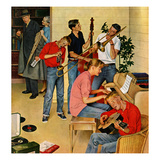 """Jam Session"", October 23, 1954 Giclee Print by John Falter"