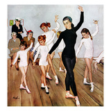 """Ballet Class"", November 3, 1956 Giclee Print by George Hughes"