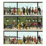 """Commuter Train"", October 20, 1951 Giclee Print by Thornton Utz"