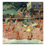 """Thunderstorm at the Shore"", July 10, 1954 Giclee Print by Ben Kimberly Prins"