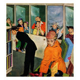 """""""Soudproof Listening Booths"""", April 19, 1952 Giclee Print by Thornton Utz"""