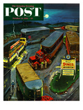 """Truck Stop Diner"" Saturday Evening Post Cover, October 10, 1953 Giclee Print by Ben Kimberly Prins"