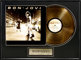 Bon Jovi Gold LP Framed Memorabilia