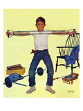 """Working Out"", March 14, 1959 Reproduction procédé giclée par Kurt Ard"