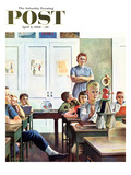 """Future Engineer"" Saturday Evening Post Cover, April 4, 1959 Giclee Print by John Falter"