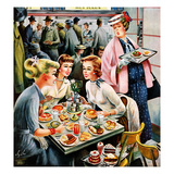 """Cafeteria Dieter"", November 10, 1956 Giclee Print by Constantin Alajalov"
