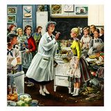 """Home Ec"", February 28, 1953 Giclee Print by Constantin Alajalov"