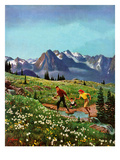 """Picnic On Mt. Ranier"", July 17, 1954 Giclee Print by John Clymer"