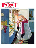 &quot;Prom Momento&quot; Saturday Evening Post Cover, October 29, 1955 Giclee Print by M. Coburn Whitmore