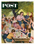 """Out of Ice Cream"" Saturday Evening Post Cover, June 27, 1953 Giclee Print by Amos Sewell"