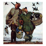 """Nothing but Decoys"", December 1, 1951 Gicleetryck av Mead Schaeffer"