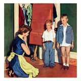 """Suiting Her Sons"", September 20, 1952 Giclee Print by Richard Sargent"