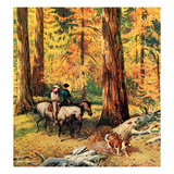 """Fall Horseback Ride"", October 20, 1956 Giclee Print by John Clymer"