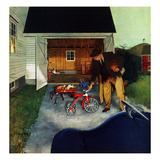 """""""Don't Block the Driveway"""", December 12, 1953 Giclee Print by George Hughes"""