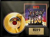 "KISS - ""Beth"" Gold Record Framed Memorabilia"