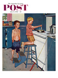 """Small Fry"" Saturday Evening Post Cover, July 12, 1958 Giclee Print by Amos Sewell"