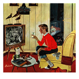 """New Years Eve Babysitter"", January 4, 1958 Giclee Print by Ben Kimberly Prins"