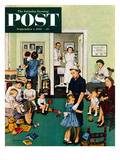 """Separation Anxiety"" Saturday Evening Post Cover, September 3, 1955 Giclee Print by Stevan Dohanos"