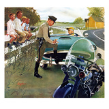 &quot;Ticket for Roadster&quot;, April 27, 1957 Reproduction proc&#233;d&#233; gicl&#233;e par George Hughes