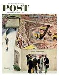"""Sidewalk Sideshow"" Saturday Evening Post Cover, November 21, 1959 Giclee Print by Thornton Utz"