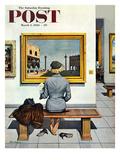 """Art Lover"" Saturday Evening Post Cover, March 3, 1956 Lámina giclée por Stevan Dohanos"