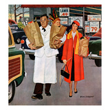 """Sack Full of Trouble"", April 14, 1956 Giclee Print by Richard Sargent"