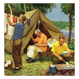"""Three Generations Camping"", May 30, 1953 Gicléetryck av Mead Schaeffer"