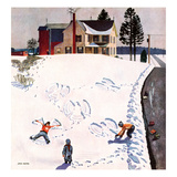 &quot;Snow Angels&quot;, January 10, 1953 Giclee Print by John Falter