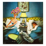 """Late Night Hat Check"", April 13, 1957 Giclee Print by Constantin Alajalov"