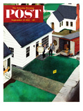 """The Tuba Next Door"" Saturday Evening Post Cover, September 27, 1952 Giclee Print by George Hughes"