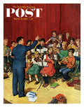 """School Orchestra"" Saturday Evening Post Cover, March 22, 1952 Giclee Print by Amos Sewell"