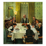 """Family Birthday Party"", March 15, 1952 Giclee Print by John Falter"