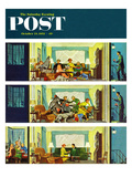 """Hurried Clean-up"" Saturday Evening Post Cover, October 24, 1953 Giclee Print by Thornton Utz"