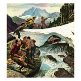 """Tired Hiker"", April 15, 1950 Giclee Print by John Clymer"