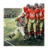 """Five Yard Penalty"", December 5, 1959 Giclee Print by Constantin Alajalov"