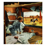 """""""Train Window on the West"""", July 24, 1954 Giclee Print by George Hughes"""