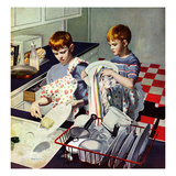 """""""Dinner Dishes"""", September 26, 1953 Giclee Print by George Hughes"""