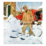 """Heating Oil Delivery"", March 1, 1958 Giclee Print by George Hughes"