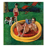 """Wading Pool"", August 27, 1955 Giclee Print by Amos Sewell"
