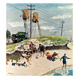 """Break Time"", August 10, 1957 Giclee Print by Ben Kimberly Prins"